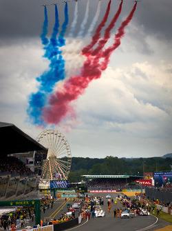 Flyover by Patrouille de France