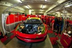 #61 AF Corse-Waltrip Ferrari F458 Italia in the garage
