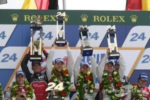 2012 Le Mans victory celebrration