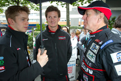 Alex Brundle, Lucas Ordonez and Martin Brundle