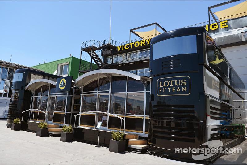 Lotus F1 Team motorhome