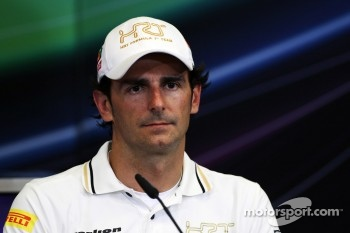 Pedro De La Rosa, HRT Formula 1 Team in the FIA Press Conference