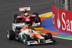 Jules Bianchi, Sahara Force India F1 Team Third Driver leads Felipe Massa, Ferrari