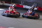 Sébastien Loeb and Travis Pastrana race in go-karts