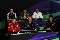 The FIA Press Conference, Renault Deputy Managing Director, Sahara Force India F1 Team Deputy Team Principal; Pat Fry, Ferrari Deputy Technical Director and Head of Race Engineering; Adrian Newey, Red Bull Racing Chief Technical Officer; James Allison, Lo
