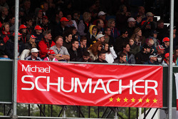 Banner for Michael Schumacher, Mercedes AMG F1