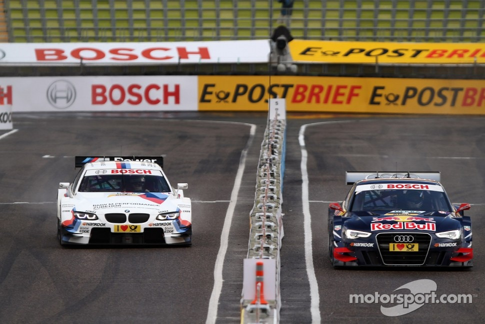 Sunday Quarter Finals Martin Tomczyk, BMW Team RMG BMW M3 DTM against Mattias Ekström, ABT Sportsline Audi A5 DTM
