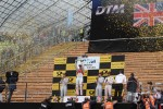 Podium: second place Jamie Green, Team HWA AMG Mercedes, AMG Mercedes, first place Mattias Ekstrm, ABT Sportsline Audi A5 DTM, third place Bruno Spengler, BMW Team Schnitzer BMW M3 DTM and Gary Paffett, Team HWA AMG Mercedes