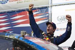 Winner Travis Pastrana celebrates