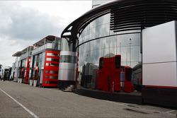 McLaren and Ferrari motorhomes