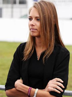 Dasha Kapustina, the girlfriend of Fernando Alonso, Ferrari