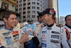 Autograph session, James Nash, Ford Focus S2000 TC, Team Aon and Tiago Monteiro, SEAT Leon WTCC, Tuenti Racing Team