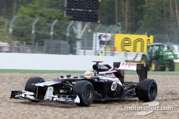 Pastor Maldonado, Williams F1 Team in the gravel