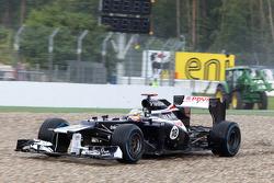 Pastor Maldonado, Williams F1 Team in the gravel