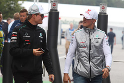 Nico Rosberg, Mercedes GP and Michael Schumacher, Mercedes GP