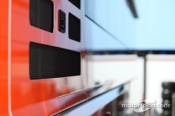 Team truck, paddock atmosphere