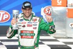 Victory lane: race winner Elliott Sadler celebrates