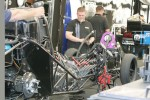 Work on Matt Hagan's Mopar Funny Car