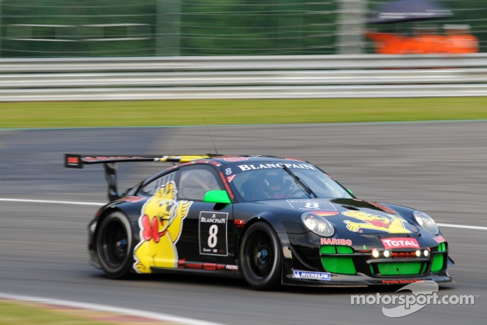 #8 Haribo Racing Team Porsche 997 GT3 R: Christian Menzel, Mike Stursberg, Hans Guido Riegel, Uwe Alzen
