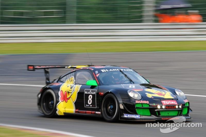 #8 Haribo Racing Team Porsche 997 GT3 R: Christian Menzel, Mike Stursberg, Hans Guido Riegel, Uwe Alzen