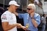 Michael Schumacher, Mercedes AMG F1 with Charlie Whiting, FIA Delegate