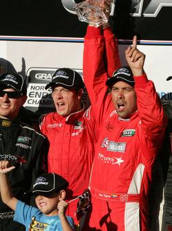 Podium: race winners Alex Popow, Sébastien Bourdais