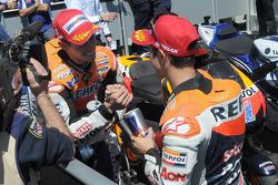Winner Casey Stoner, Repsol Honda Team, third place Dani Pedrosa, Repsol Honda Team