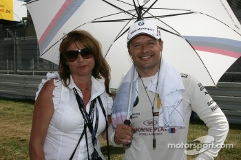 Andy Priaulx, BMW Team RBM BMW M3 DTM with his wife