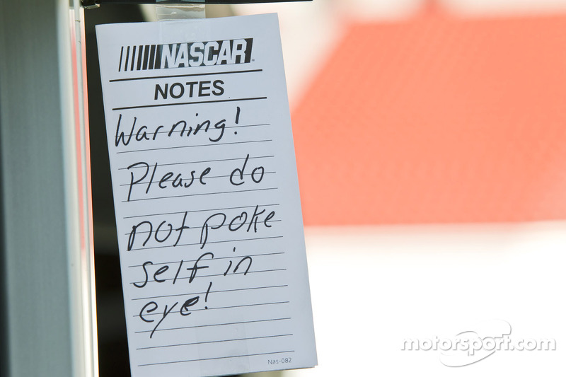 Interesting note from NASCAR officials