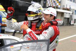 Timo Scheider, ABT Sportsline, Mike Rockenfeller, Audi Sport Team Phoenix Racing