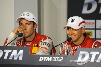 Post-race press conference: second place Mike Rockenfeller, winner Edoardo Mortara