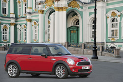 A John Cooper Works MINI in Moscow ahead of the Moscow International Motor Show