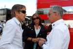 Adrian Fernandez, with Eliseo Salazar, FIA Steward