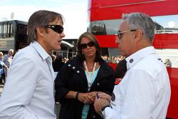 Adrian Fernandez, with Eliseo Salazar, FIA Steward