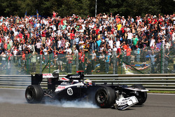 Pastor Maldonado, Williams retired from the race with damaged front wing