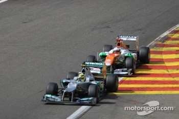 Nico Rosberg, Mercedes GP and Paul di Resta, Sahara Force India Formula One Team