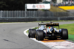 Nico Rosberg, Mercedes AMG F1 leads Kimi Raikkonen, Lotus F1