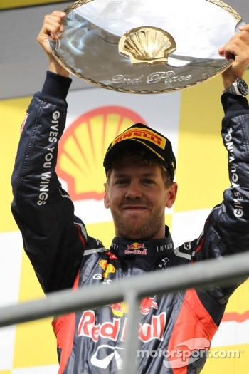 2nd place Sebastian Vettel, Red Bull Racing