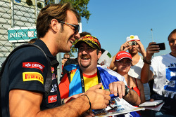 Jean-Eric Vergne, Scuderia Toro Rosso signs autographs for the fans