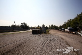 The exit of the Paraoblica and the famous old Monza banking