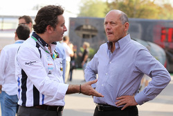 Alejandro Agag, Barwa Addax Team Principal with Ron Dennis, McLaren Executive Chairman