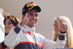 Podium: second place Sergio Perez, Sauber