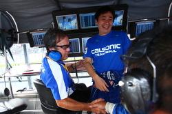 Tsugio Matsuda celebrates the win