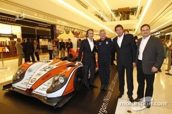 Jacques Nicolet with Emerson Fittipaldi and other VIPs