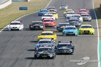 Start: Bruno Spengler, BMW Team Schnitzer BMW M3 DTM and Jamie Green, Team HWA AMG Mercedes, AMG Mercedes C-Coupe