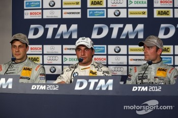 First three,, Gary Paffett, Team HWA AMG Mercedes, AMG Mercedes C-Coupe, Bruno Spengler, BMW Team Schnitzer BMW M3 DTM, Jamie Green AMG Mercedes C-Coupe