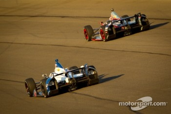 J.R. Hildebrand, Panther Racing Chevrolet and Marco Andretti, Andretti Autosport Chevrolet