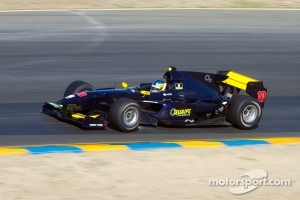 Adrian Quaife-Hobbs in his championship car at Sonoma