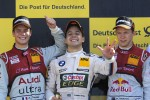 Podium: race winner Augusto Farfus Jr., BMW Team RBM; second place Adrien Tambay, Audi Sport Team Abt; third place Mattias Ekstrm, ABT Sportsline