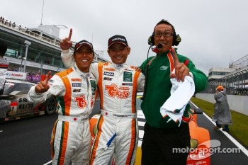 GT300 champions Hiroki Yoshimoto, Kazuki Hoshino